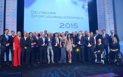 Gruppenbild Deutscher Sportjournalistenpreis im Hotel Grand Elysee in Hamburg am 05.10.2015 Foto: BrauerPhotos © Oliver Walterscheid